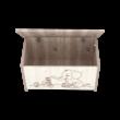 Elefántos játéktároló láda - Krém-fűz