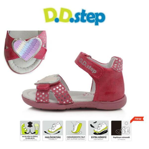 D.D. Step sötét rózsaszín szivecskés szandál - ac048-295a