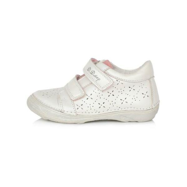 D.D. Step tépőzáras bőr gyerekcipő fehér - 046-617A