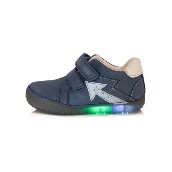 D.D. Step világító talpú bőrcipő nyíllal - 050-17