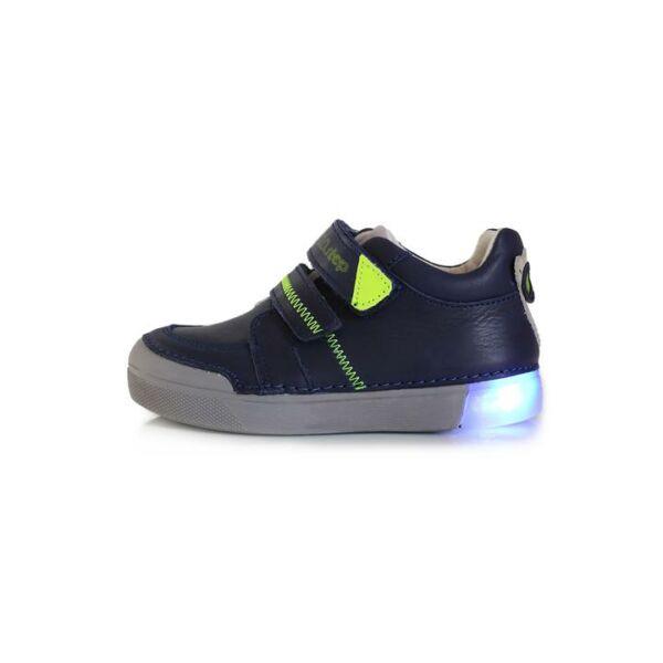 D.D. Step világító talpú királykék bőrcipő - 068-402