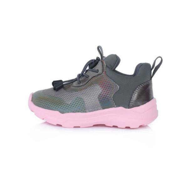 D.D. Step vízlepergető bokacipő rózsaszín talppal - F61-553B