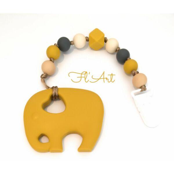 Elefánt 2 in 1 cumi-és rágcsalánc