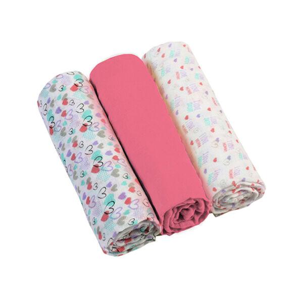 BabyOno színes textilpelenka 3db-os pink --348/02
