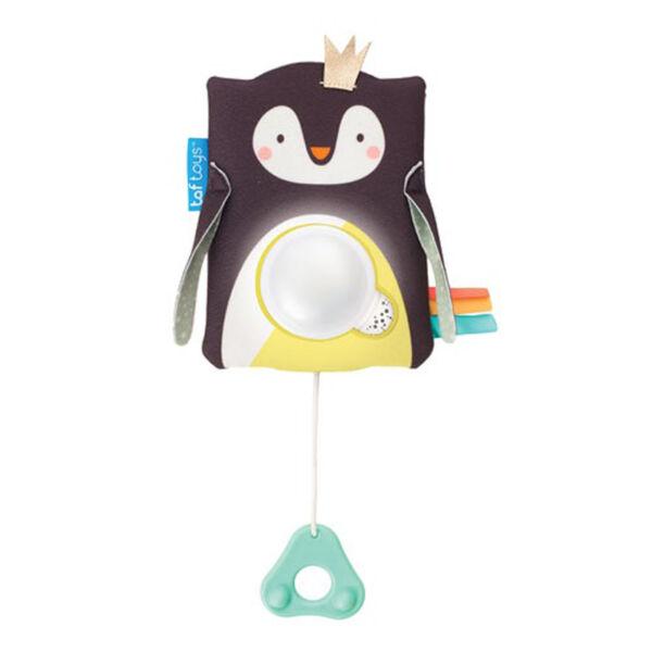 Taf Toys zenélő éjszakai fény hangérzékelővel Prince, a pingvin --12275