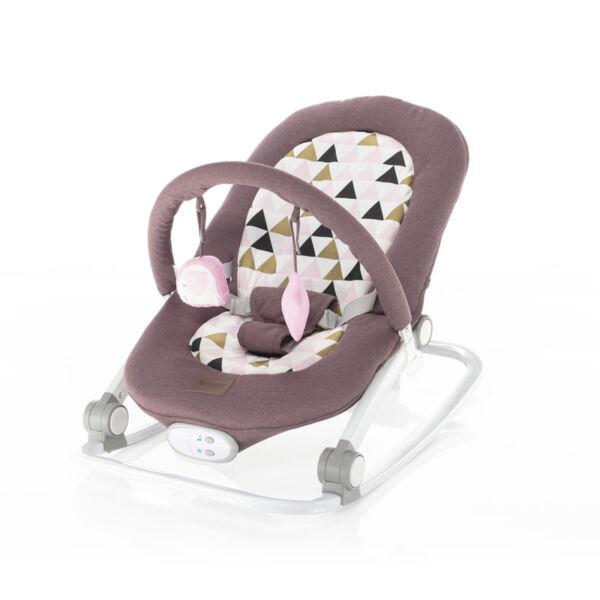 Zopa Relax rezgő, zenélő pihenőszék --Pink triangles