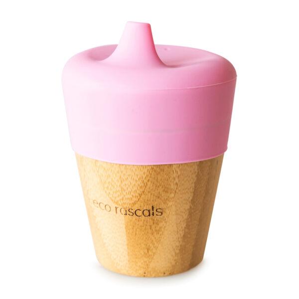 Eco Rascals bambusz csőrös csésze - rózsaszín