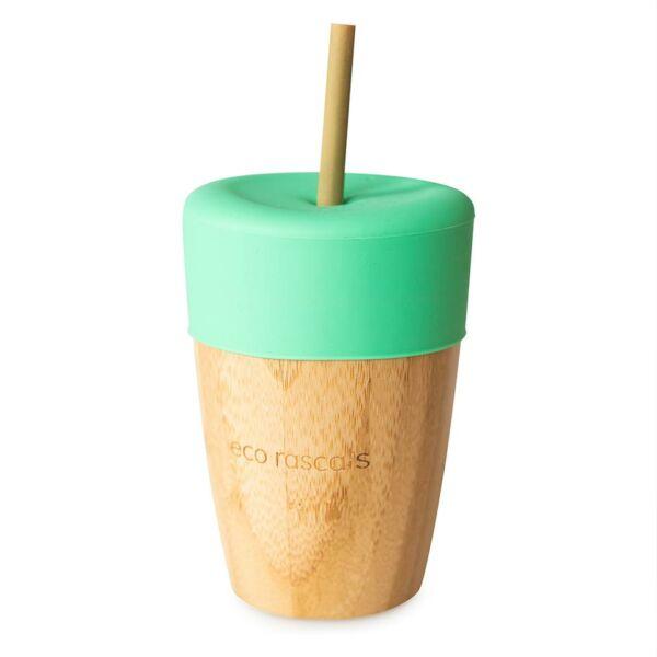 Eco Rascals bambusz pohár 210ml - zöld