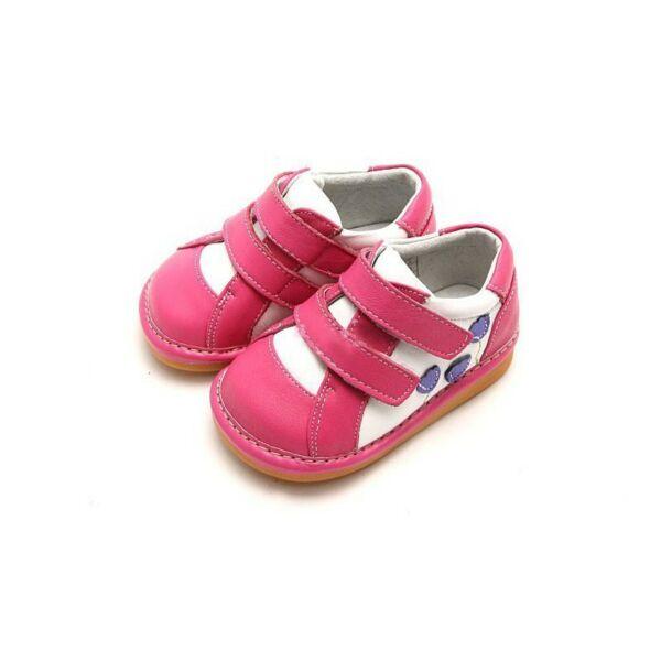 Freycoo - Bőrcipő - Nikola - sötét rózsaszín - csipogós