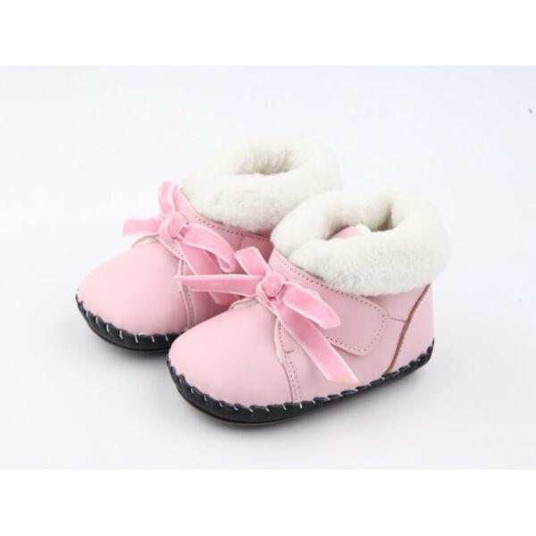 Freycoo - Bőrtalpú cipő - Rózsaszín Amália
