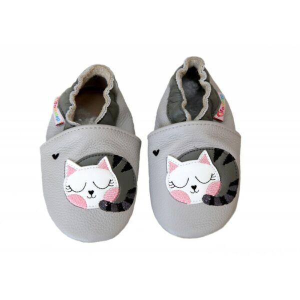 Freycoo - Puhatalpú cipő - Szürke cicás