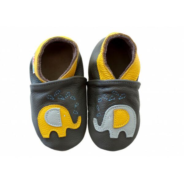 Freycoo - Puhatalpú cipő - elefánt - szürke sárga