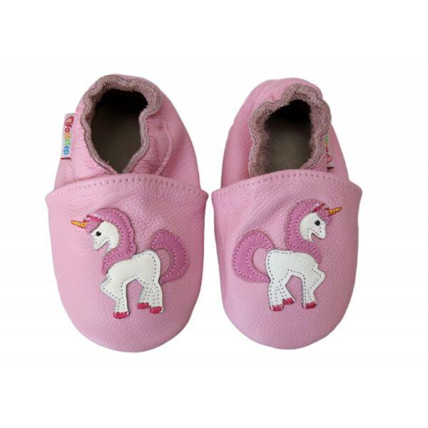 Freycoo - Puhatalpú cipő - unikornis - világos rózsaszín