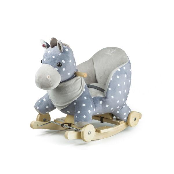 Kinderkraft hintázó állatka kerekekkel szürke ló